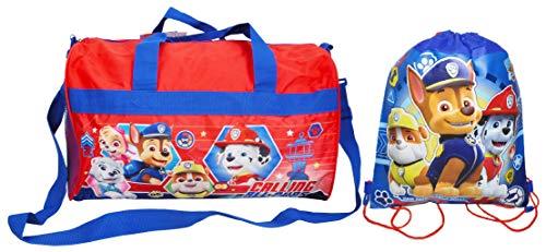 (Nickelodeon Paw Patrol Duffel Travel Bag & Sling Bag Chase Marshall Rubble)