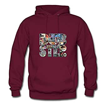 Collage Dubstep Small Block Lovely X-large Hoodies Personalized For Women Burgundy