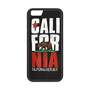 CALL FOR NIA CALIFORNIA Cell Phone Hard Case for iPhone 6(4.7) Plastic and TPU (Laser Technology)
