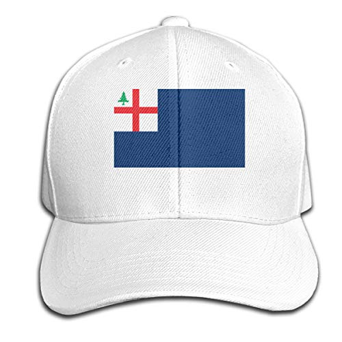 New England (Bunker Hill) Flag Hat Men's Vintage Washed Personalized Hats White