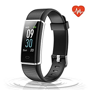 Letsfit Fitness Tracker Color Screen, IP68 Waterproof Heart Rate Monitor Activity Tracker, Pedometer Watch Sleep Monitor Step Counter Kids Women Men, Smart Phones