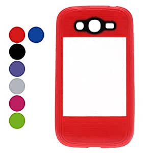 AES - Double-Color Protective Soft TPU Case for Samsung Galaxy Grand DUOS I9082 (Assorted Colors) , Black