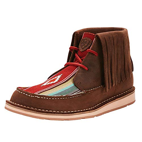 Ariat Women's Cruiser Fringe Moccasin, Palm Brown/Indian Saddle Blanket, 8 B US