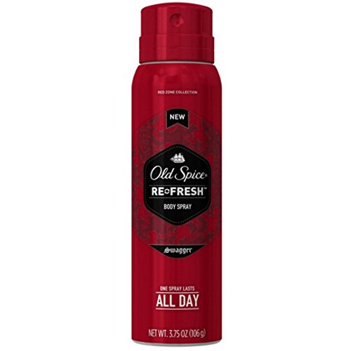 Old Spice Re-Fresh Body Spray, Swagger 3.75 oz (Pack of 7)