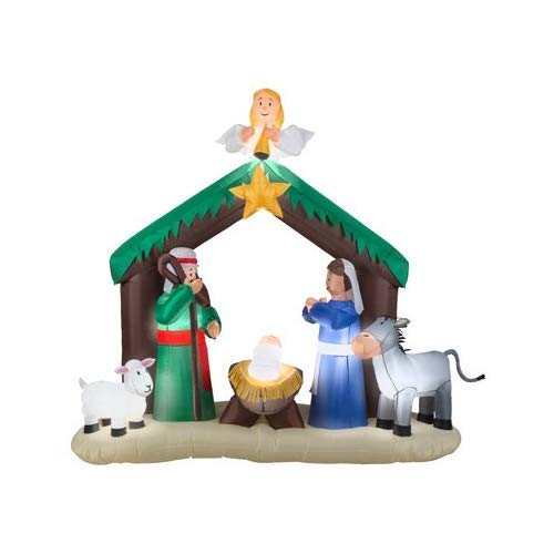 Gemmy 36707 Airblown Nativity Scene Christmas Inflatabl