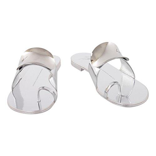 Giuseppe Zanotti Design Women's E70002001 Silver Leather Sandals gJPiw7UF