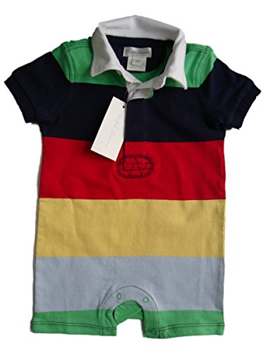 Ralph Lauren Cotton Jersey Rugby Multicolored Shortall for Baby Boys, 9 Months