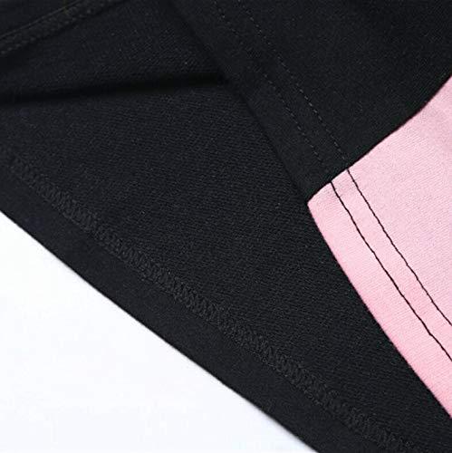 Fashion Patchwork Felpe Donna 2018 Maniche Top Multicolore Felpa Donna Felpa Cappuccio Autunno con Camicetta Donna Elegante Top BaZhaHei Lunghe Top con Ragazza Tumblr Casual Moda Felpa da EXBqd6