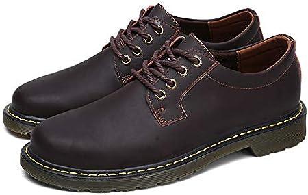TAZAN Zapatos de vestir oxford para los hombres, los hombres atan para arriba Brogues zapatos casuales Business Flat smoking de la boda zapatos de cuero clásico Negro Marrón Rojo 38-47EU