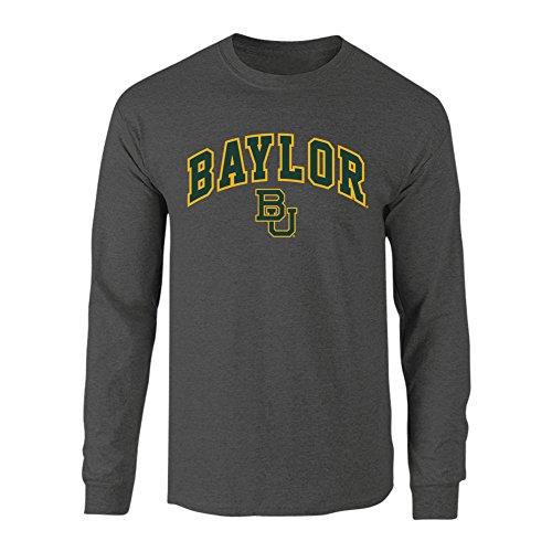 Baylor Bears Long Sleeve Tshirt Arch Charcoal - L