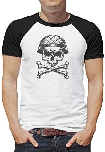 O2ECH-8 Mann Herren T Shirt Jugendlicher TopUrlaub - Viking Drucken Runder Kragen T-Shirt
