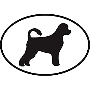 "Vinyl Overlays 720 Magnet Portuguese Water Dog Euro Oval Bumper Magnetic Sticker 5"" 12"
