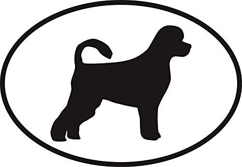 Vinyl Overlays 720 Magnet Portuguese Water Dog Euro Oval Bumper Magnetic Sticker 5