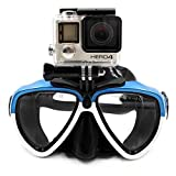TELESIN Silicone Diving Glass With Detachable Screw Mount Diving Mask Scuba Snorkel Swimming