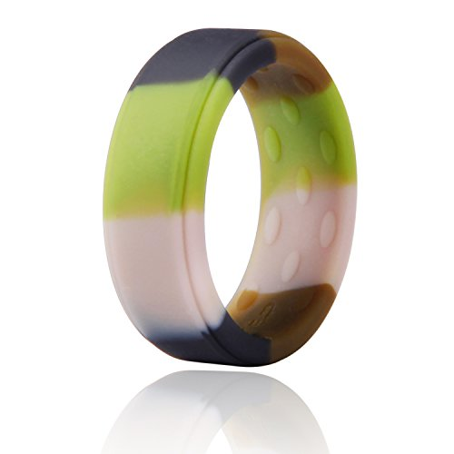 Slicone Skin - M-MOSTEP Silicone Wedding Ring, Slicone Ring for Men and Women, Premium Medical Grade Stackable Rubber Bands, Breathableand Comfortable Fit & Skin Safe Ring