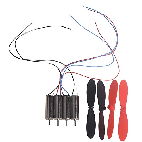 (4pcs DC 3.7V 720 7*20 mm Helicopter Coreless DC Motor Mini Great Torque 45000 RPM with Propeller)