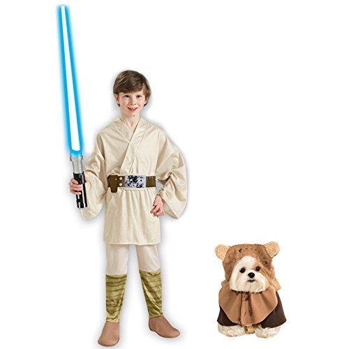 Rubie's Star Wars Luke Skywalker Child M and Pet M Costume Bundle Set ()