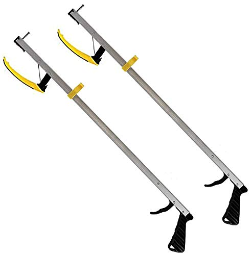RMS 2-Pack 32 Inches Long Grabber Reacher - Magnetic Tip Helps Pick Up Small Objects - Fitted with Post to Assist with Dressing - Mobility Aid Reaching Assist Tool, Arm Extension (32-inch) ()