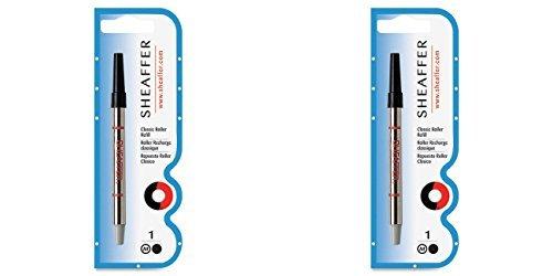 Sheaffer Rollerball Classic Refill, Medium Point, Black Ink (SHF97335), 2 Packs