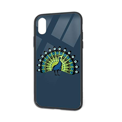 Anti-Scratch Peacock's Tail Soft Silicone TPU Phone Case for iPhone X iPhone Xs -