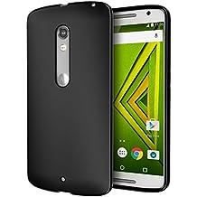 DROID MAXX 2 Case, Cimo [Matte] Premium Slim Fit Flexible TPU Case for Motorola Verizon DROID MAXX 2 / Moto X Play (2015) - Black