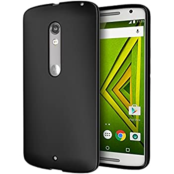 DROID MAXX 2 Case, Cimo [Matte] Premium Slim Fit Flexible TPU Case for Motorola Verizon DROID MAXX 2 / Moto X Play (2015) - Black