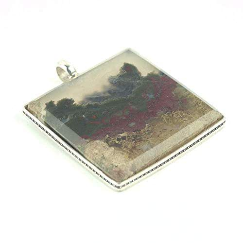 Moss Agate Rectangle Cab ON SALE Indonesian Plume Agate Cabochon