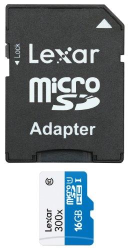 Lexar Lexar Media - Lexar Media High-Performance microSDHC card 16GB Class10 with SD adapter LSDMI16GBBJP300A