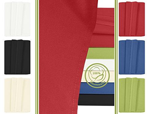 Betttuch - Haustuch - Bettlaken - aus 100% Baumwolle in 6 ausgesuchten Farben - Laken ohne Gummizug - Einheitsgröße von ca. 150 x 250 cm, rot