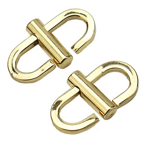 JETEHO 2 Pieces Gold Tone Adjustable Metal Buckles for Chain Strap Bag Chain Shorten