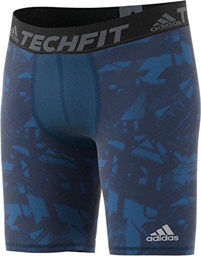 adidas Mens Training Techfit Baselayer Printed Short Tights