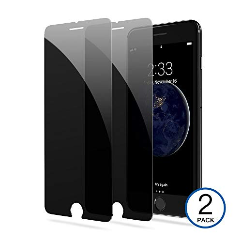 [2-Pack] iPhone 8/7/6 Privacy Screen Protector Eastoan Premium Anti-Spy Tempered Glass Film Compatible with iPhone 8/7/ 6 4.7 Inch-Anti-Spy