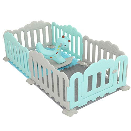 CHULQY Baby Fence Children's Play Fence Indoor Small Amusement Park Home Baby Rocking Horse Storage Rack