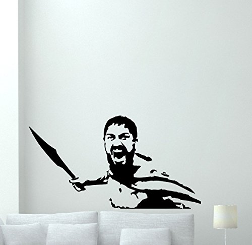 This Is Sparta Wall Decal Rome Warrior 300 Spartans Gladiator Vinyl Sticker Shield Spear Military Wall Art Nursery Modern Design Kids Room Decor Bedroom Decor Removable Wall Mural 176xxx -