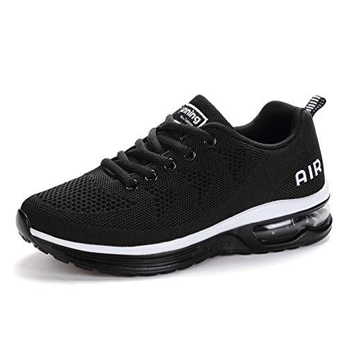 (RUMPRA Women Sneakers Lightweight Air Cushion Gym Fashion Shoes Breathable Walking Running Athletic)