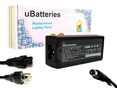 UBatteries Compatible 65W AC Adapter Charger Replacement For HP Part# 463552-002 609939-001 677774-001 677774-002 677774-003 693711-001 724264-001 PA-1650-32HJ PA-1650-39HA PPP009L-E LAC-HC42 (Nx6320 Notebook Pc Series)