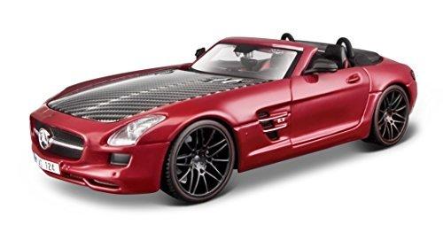 Maisto 1/24 Mercedes Benz SLS AMG Roadster Red /Black Car...