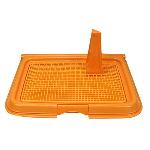 orange BMY Pet Supplies Grid Dog Potty,Dog Toilet, Puppy Cat Pet Training Mat Potty, Easy To Clean And Hygienic,Sterile,Tasteless And Corrosion Resistant,color Optional