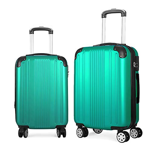 bb5db6f3f740 Fochier 2 Piece Luggage Sets Expandable Lightweight Spinner Suitcase ...
