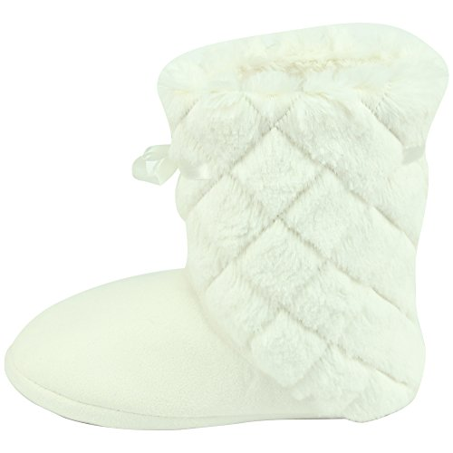 Slippers Soft Womens Winter Fashion Indoor White Warm Fleece Forfoot Boots House Uz5Fxdqqw
