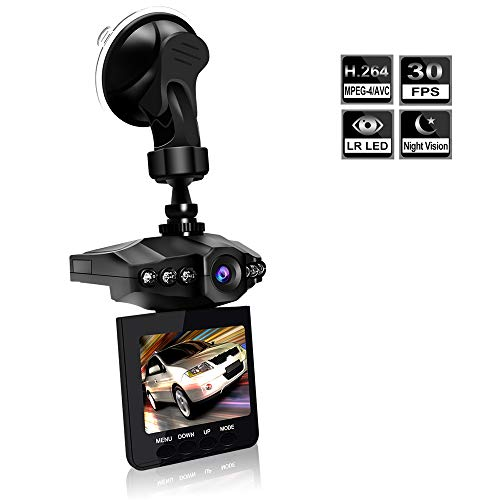 Dash Cam, Car Dash Cam, 2.5″ Wide Angle Car Driving Recorder Dashboard Camera, Car DVR Vehicle Dash Cam with Night Mode, WDR, Loop Recording