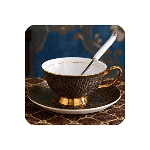 Porcelain Coffee Cups Vintage Ceramic Cups On Glazed Advanced Tea Cups And Saucers Sets Luxury Gifts,Style P