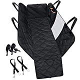 Mpow Dog Car Seat Covers with Mesh Visual Window, More Durable Scratchproof Dog Seat Cover for Back Seat with 2 Dog Seat Belts & Storage Pockets, Non-Slip Washable Dog Car Hammock for Different Cars