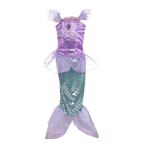 Dressy Daisy Girls' Princess Mermaid Fairy Tales Costume Cosplay Fancy Dress Party Outfit Size 3T