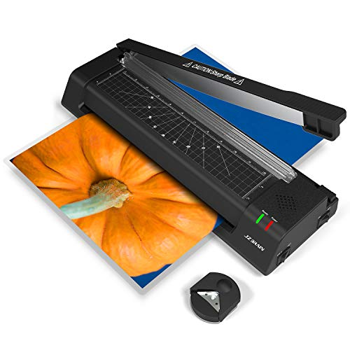 JZBRAIN 13'' Laminator Machine for A3 A4 A6 Two Roller Technology with Jam- Free Function Fast Speed Thermal Laminating Machine with Trimmer and Corner Rounder for Home Office School Teachers ()