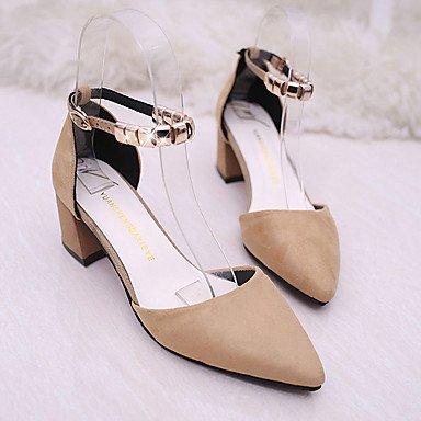 Le donne eleganti sandali Sexy Donna Stivali Autunno Inverno Comfort PU Abito casual Chunky Heel Zipper Lace-up marrone nero Borgogna , Army green , us8.5 / EU39 / uk6.5 / CN40