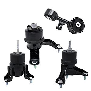 Engine Motor and Trans Mount Set of 4 for 2002 - 2006 Toyota Camry 2.4L Compatible with Auto Trans