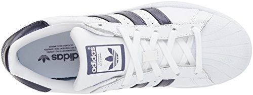 Night Zapatillas Deportivas Purple White para Mujer White Adidas W Superstar Originals qwPcWZP6A7