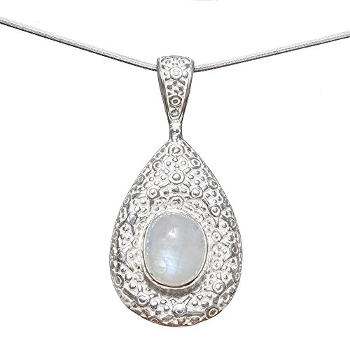 Sitara Collections Sterling Silver Rainbow Moonstone Pear...