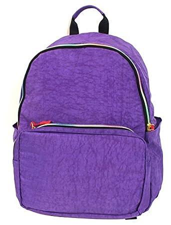 Amazon.com : eDealMax toldos cremallera de cierre de Estudiantes Mochila Casual Bookbag púrpura : Sports & Outdoors